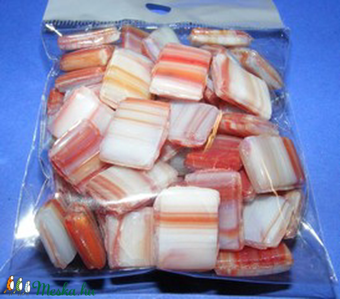 Kerámiamozaik (100 g) - barna csíkos - vegyes alapanyag - Meska.hu