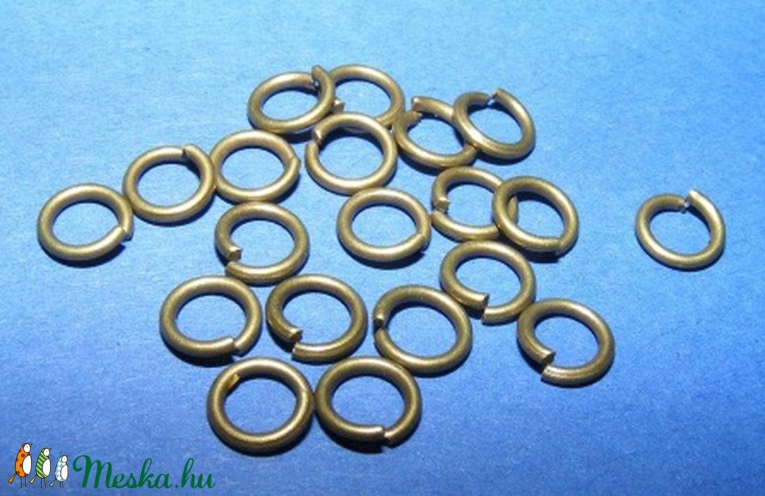 Szerelőkarika (1001/B minta/20 db) - 6x1 mm - gyöngy, ékszerkellék - Meska.hu