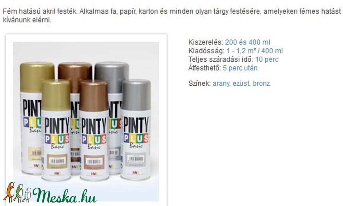 PINTY PLUS acryl festék spray (200 ml/1 db) - bronz - festék - Meska.hu