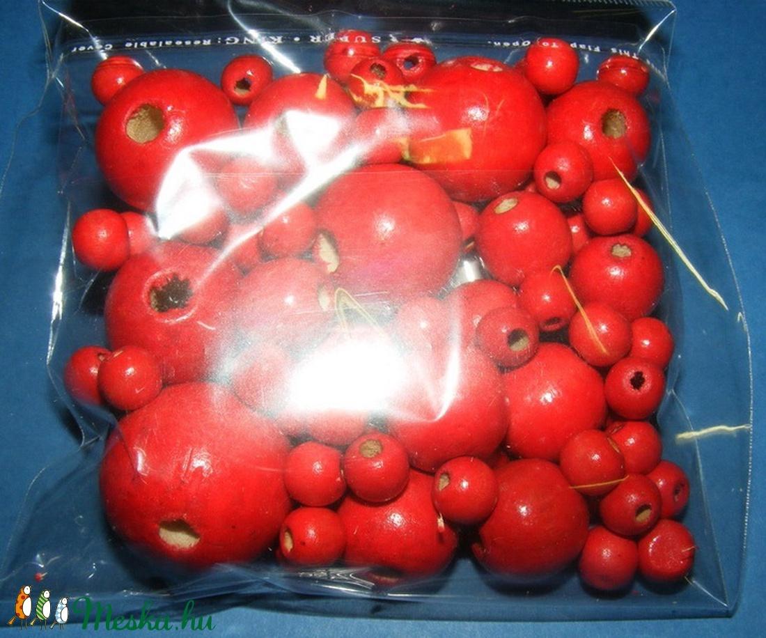 Festett fagolyó-1 (vegyes méret/75 db) - piros (csimbo) - Meska.hu