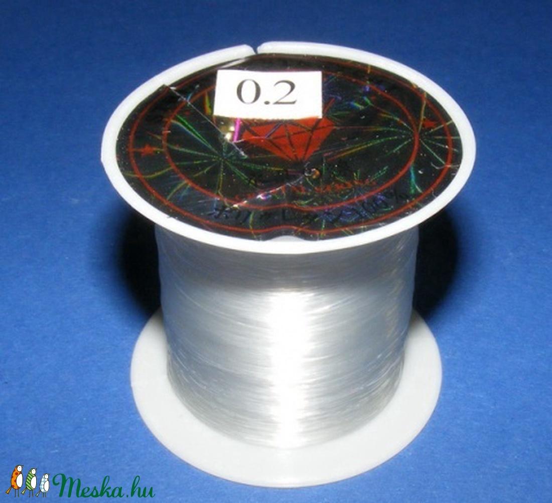 Damil (� 0,2 mm/1 db) - gyöngy, ékszerkellék - Meska.hu