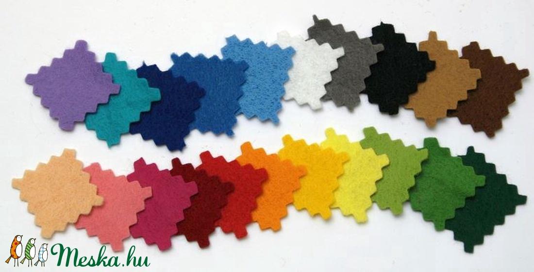 Dekorfilc (2 mm/puha) - erősszürke - textil - Meska.hu