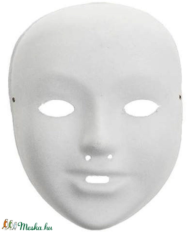 Festhető papír álarc (22x17 cm/1 db) - közepes méret - diy (csináld magad) - egységcsomag - egységcsomag - Meska.hu