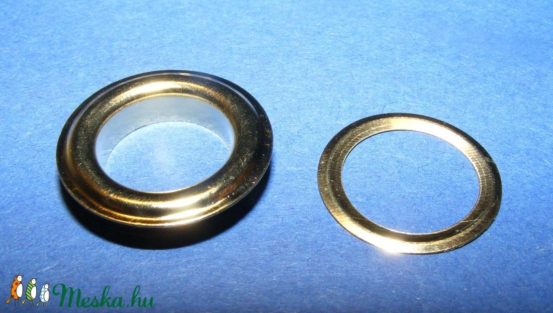 Fém ringli (� 12 mm/1 pár) - arany - csat, karika, zár - Meska.hu