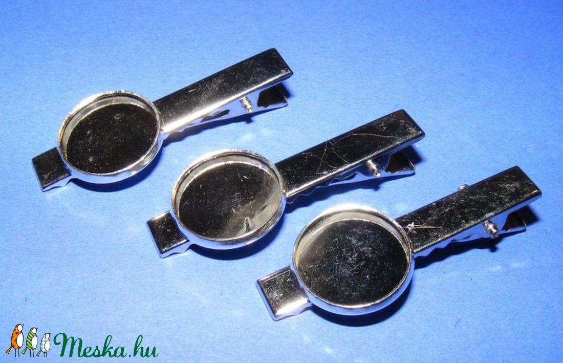Kitűző alap (414. minta/1 db) - nyakkendő csipesz  - gyöngy, ékszerkellék - Meska.hu