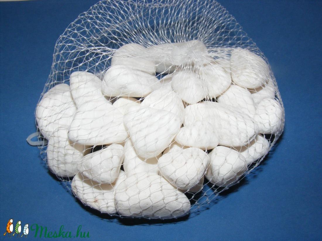 Dekorkavics fehér (300 g) - kicsi - vegyes alapanyag - Meska.hu