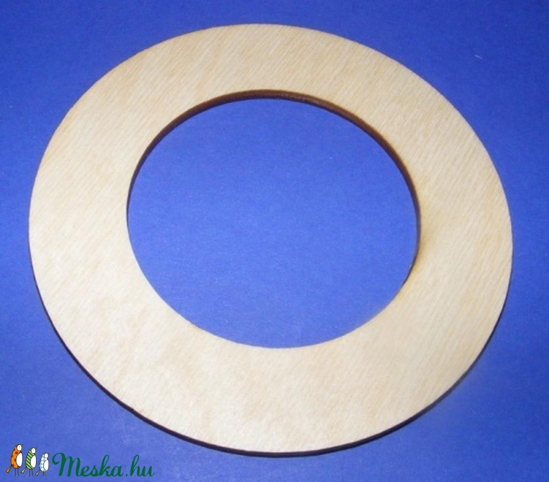 Mini fa keret (� 10 cm/1 db) - kerek - fa - Meska.hu