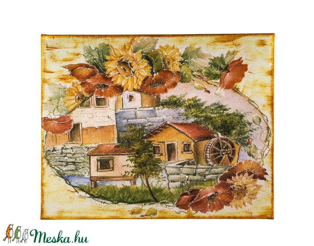 Fali kép festő vásznon (csinaldmesike) - Meska.hu