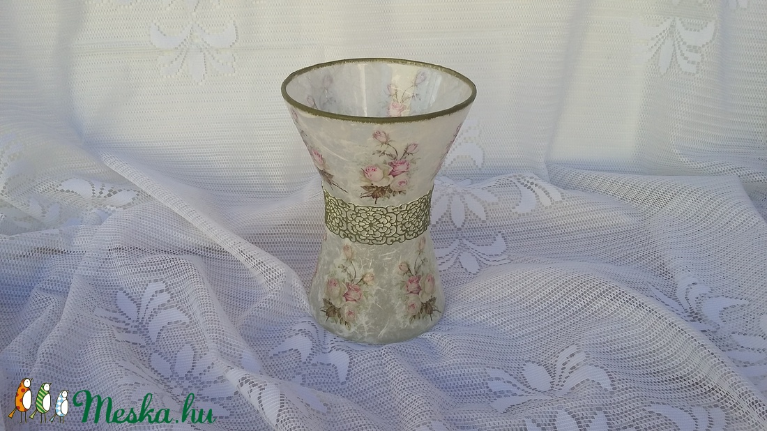 vintage üveg váza (csinaldmesike) - Meska.hu