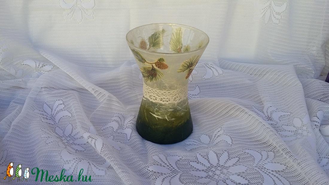 szépen ívelt üveg váza (csinaldmesike) - Meska.hu