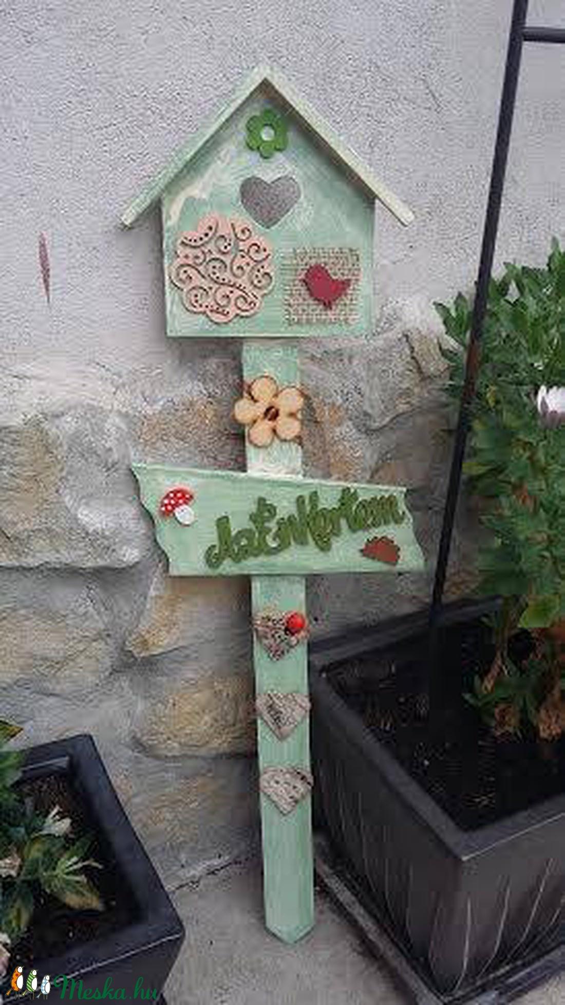 Köszöntő kerti tábla (csinaldmesike) - Meska.hu
