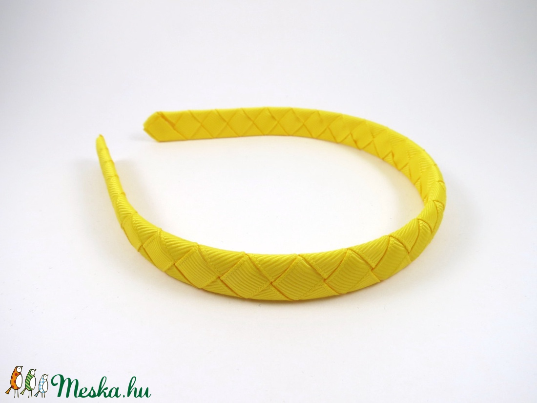 Cikk-cakkos hajpánt (sárga) (RibbonLove) - Meska.hu