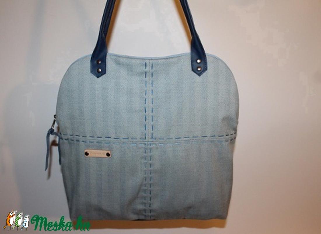 Táska szövet és bőr táska egyedi női táska (BYildi) - Meska.hu b61ab89836