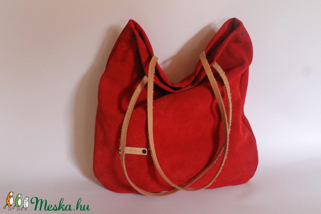Bőr táska piros velúr bőr táska női táska (BYildi) - Meska.hu 004e8765fe