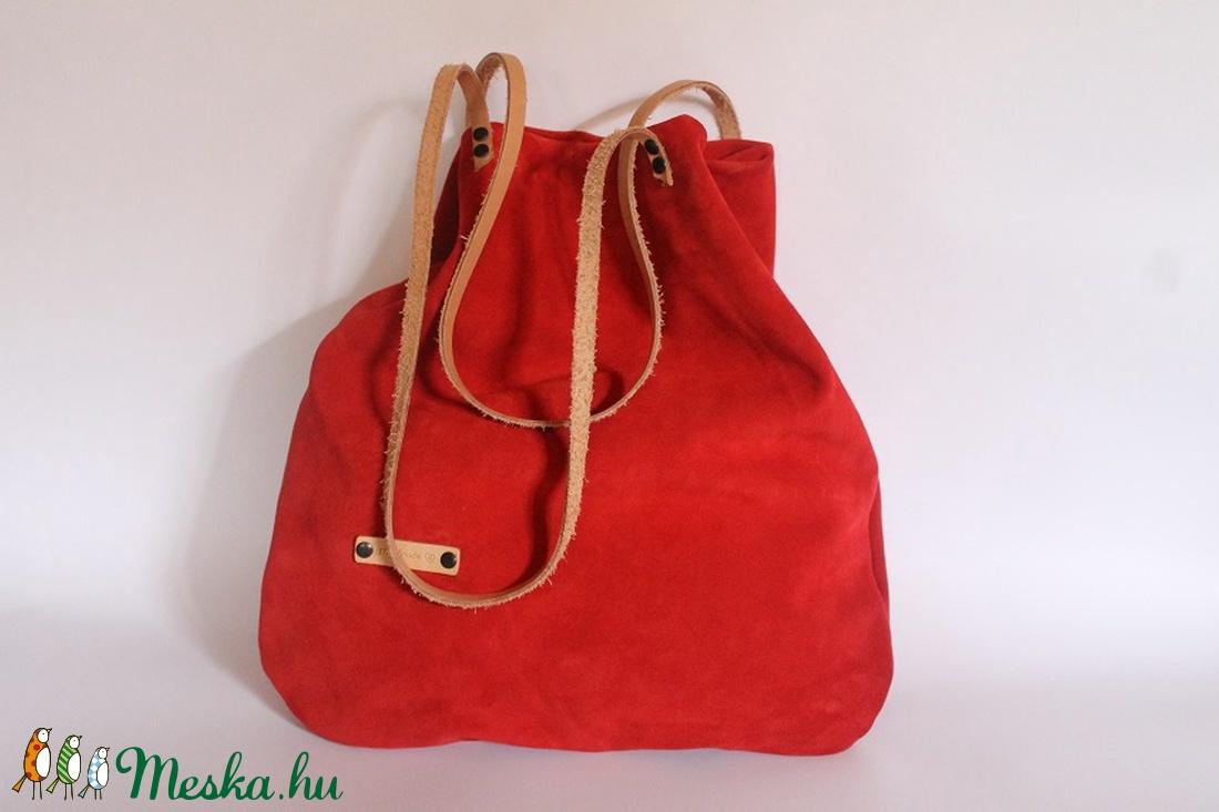 Bőr táska piros velúr bőr táska női táska (BYildi) - Meska.hu 1c22c5027e