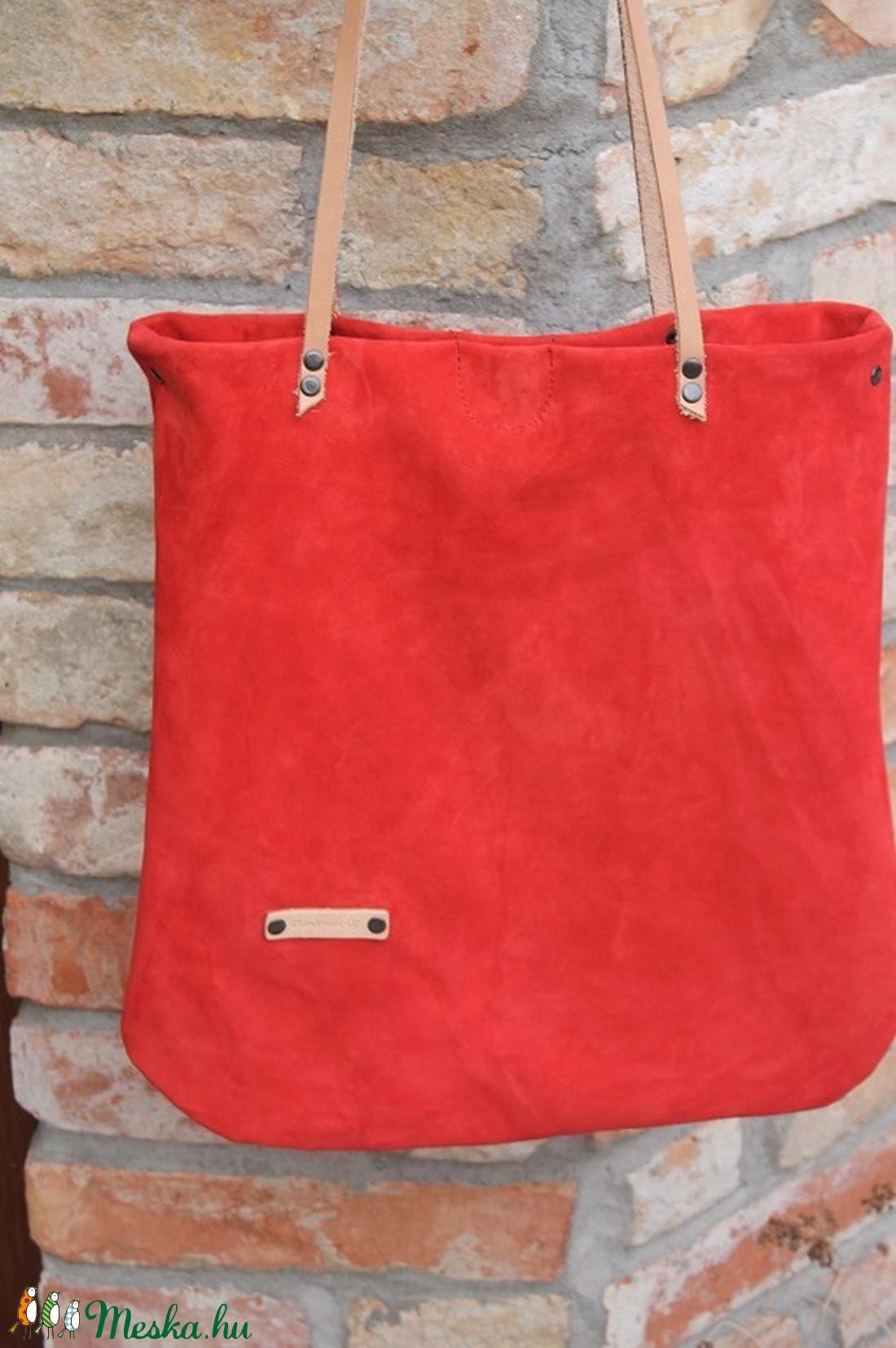 Bőr táska piros velúr bőr táska női táska (BYildi) - Meska.hu 32dbe6d756