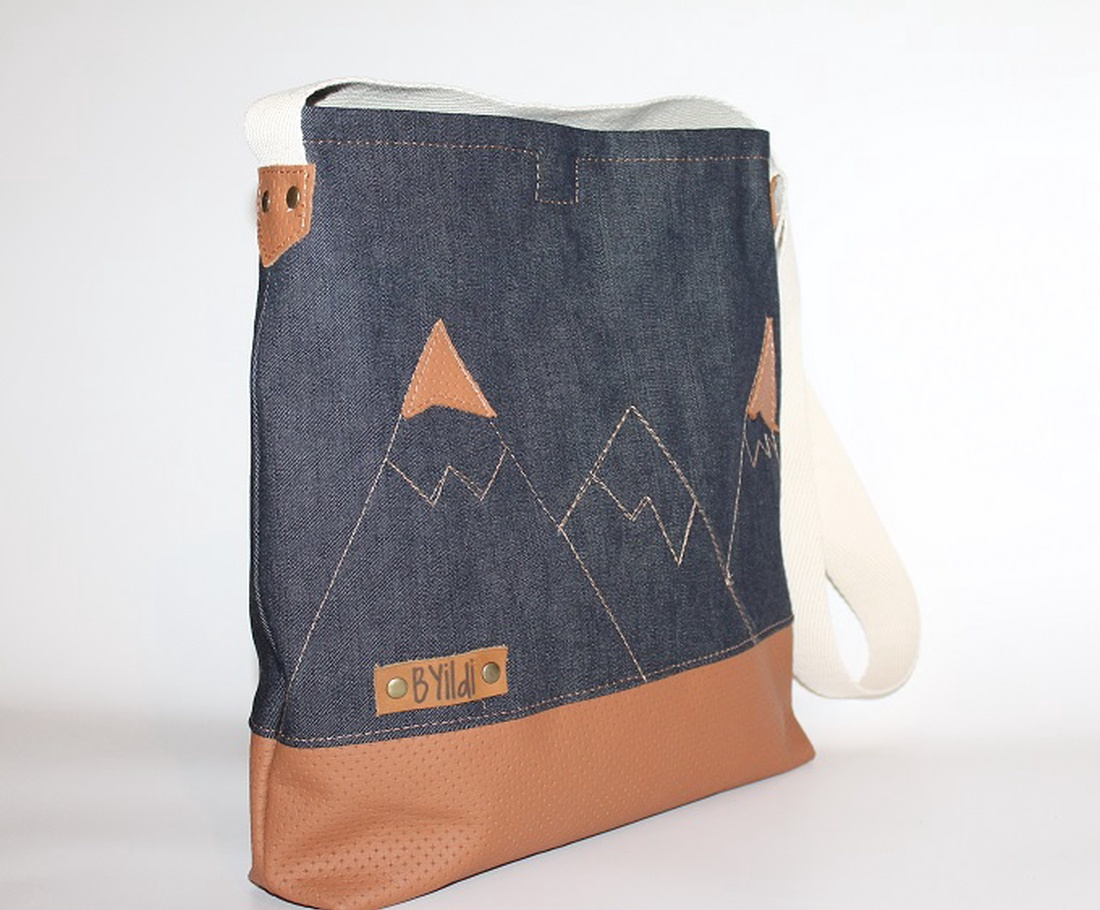 Táska farmer táska egyedi vászon táska bőrrel kombinálva (BYildi) - Meska.hu 2d4d3c26b0