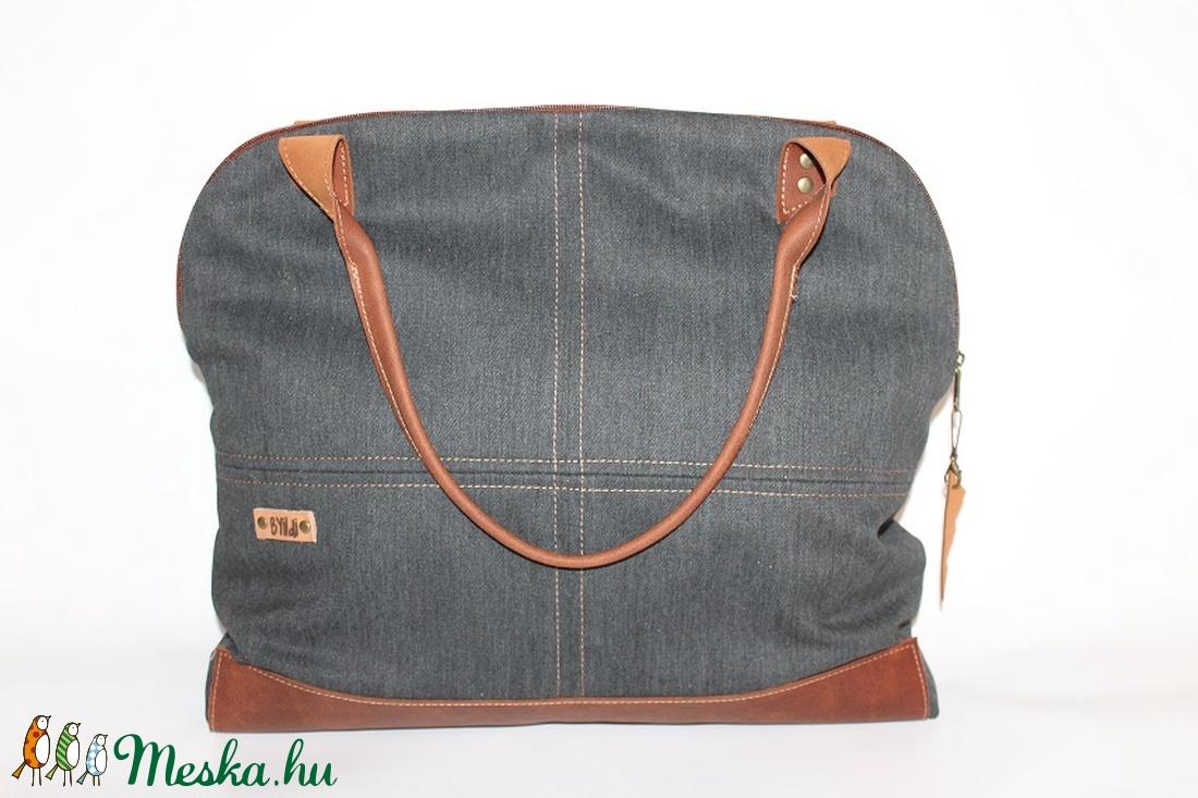 Táska vászon és bőr táska egyedi női táska (BYildi) - Meska.hu ... f87539a1e3