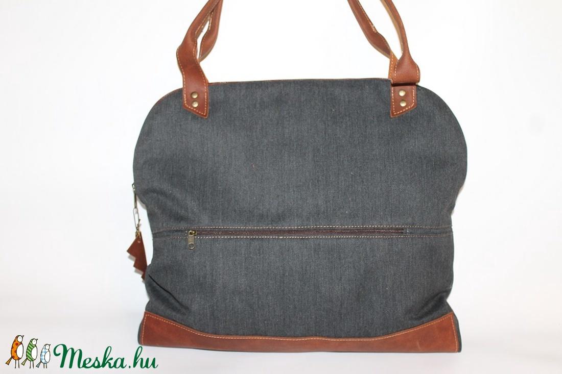 ... Táska vászon és bőr táska egyedi női táska (BYildi) - Meska.hu ... 2328f1ee92