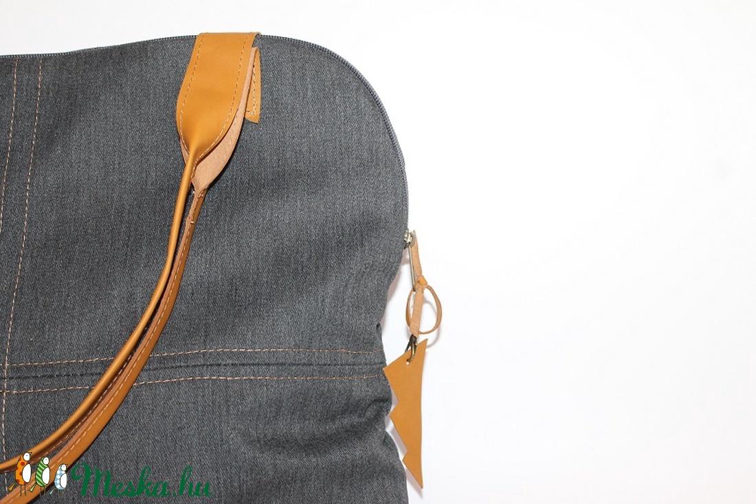 Táska vászon és bőr táska egyedi női táska (BYildi) - Meska.hu 5733523c49