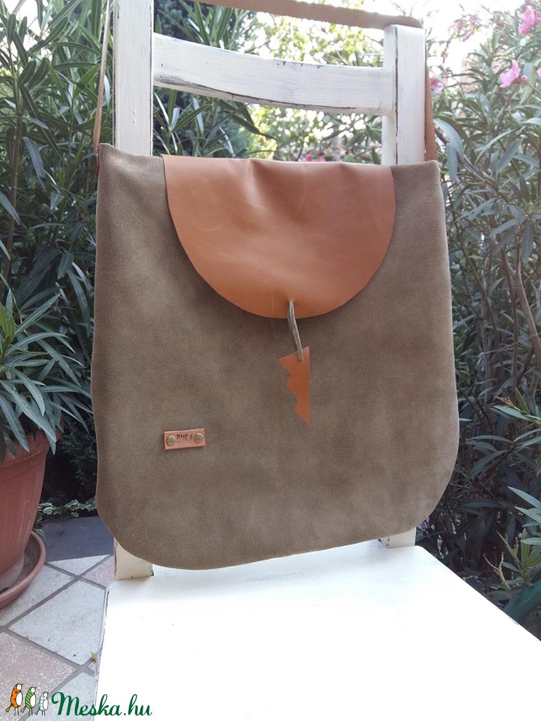 Velúr-bőr táska világos Khaki színű velúrtáska (BYildi) - Meska.hu 9ae026341a