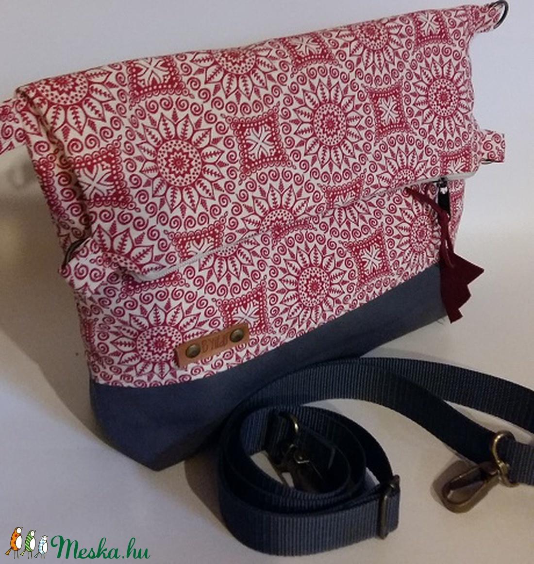 Táska Válltáska ipad táska piros mandala táska női mindennapos táska (BYildi)  - Meska.hu aab3951db3