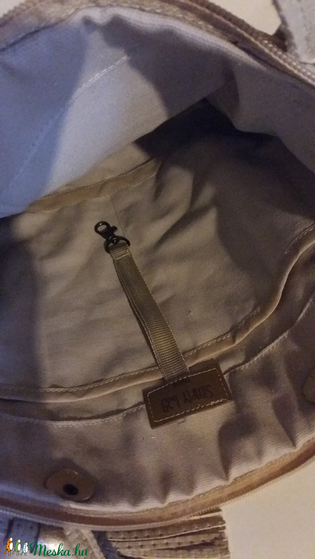 ... Bőrtáska arany és beige női táska hátizsák super divatos egyedi dartab ( BYildi) - Meska 7b2ec266f0
