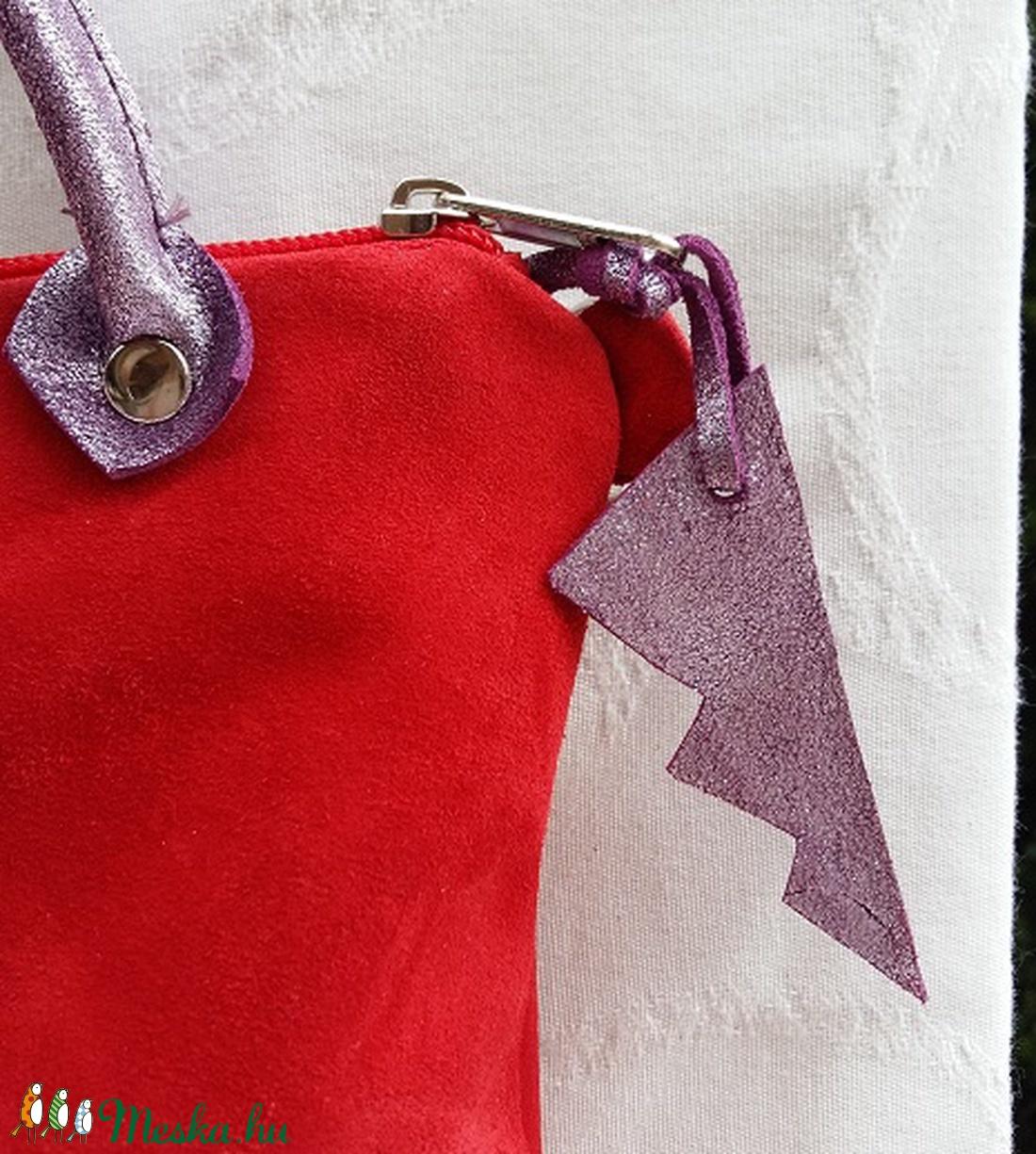 Bőrtáska piros és lila női táska hátizsák super divatos egyedi dartab ( BYildi) - Meska.hu aebb0122dd