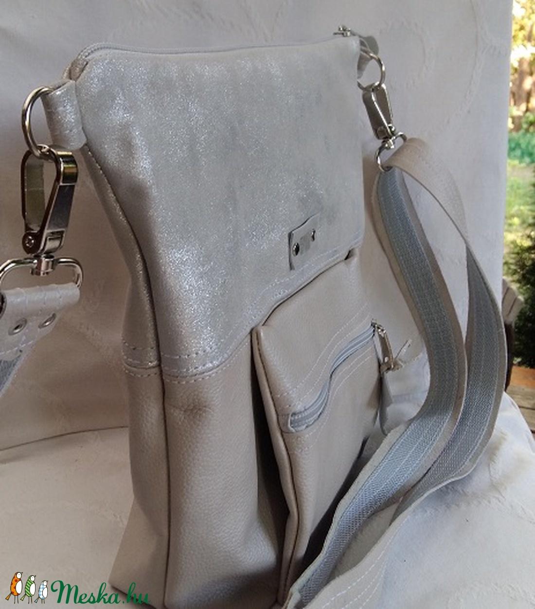 Ezüst és vajszín bőrtáska Női valódi bőrtáska kisméretű táska (BYildi) -  Meska.hu f2c0510f95