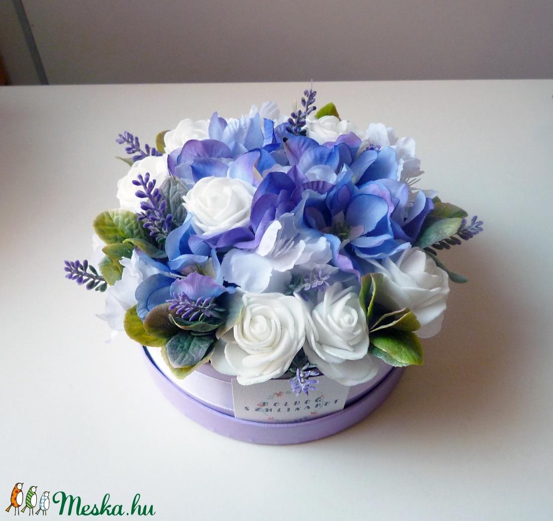 Kis szülinapi levendulás virág doboz (Decoflor) - Meska.hu