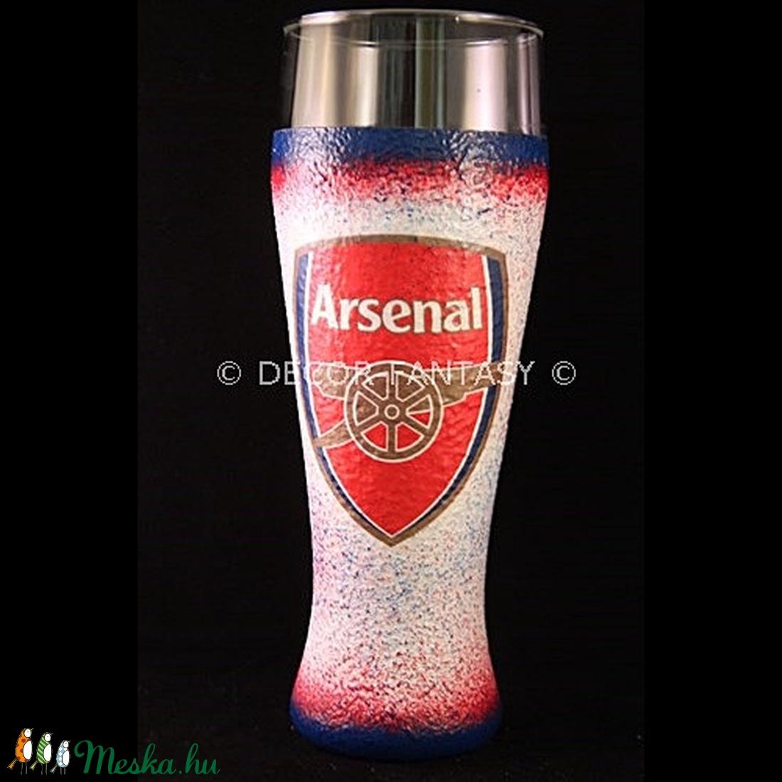 ARSENAL sörös pohár ( 0,5 l ) ; Igazán egyedi Arsenal szurkolói ajándék (decorfantasy) - Meska.hu