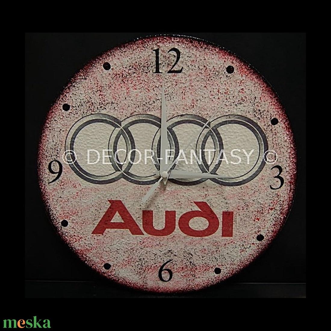 AUDI emblémával díszített óra audi autó rajongóknak - Meska.hu
