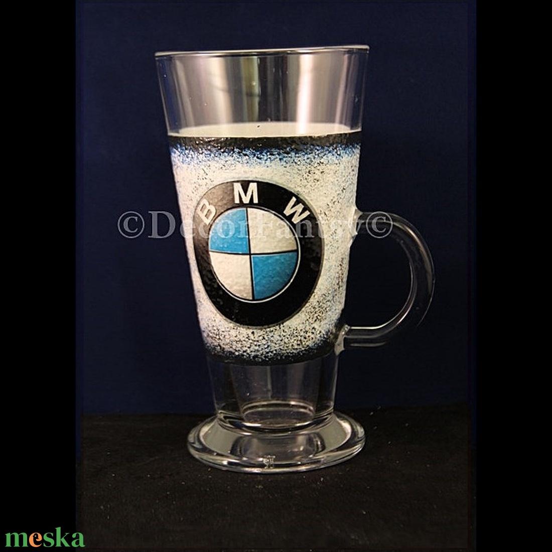 BNW  emblémával díszített Latte s pohár ( 260 ml )  - Meska.hu