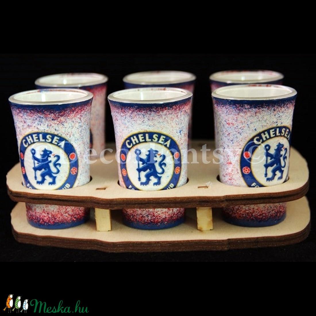 Chelsea FC emblémával díszített pohár szett  (decorfantasy) - Meska.hu