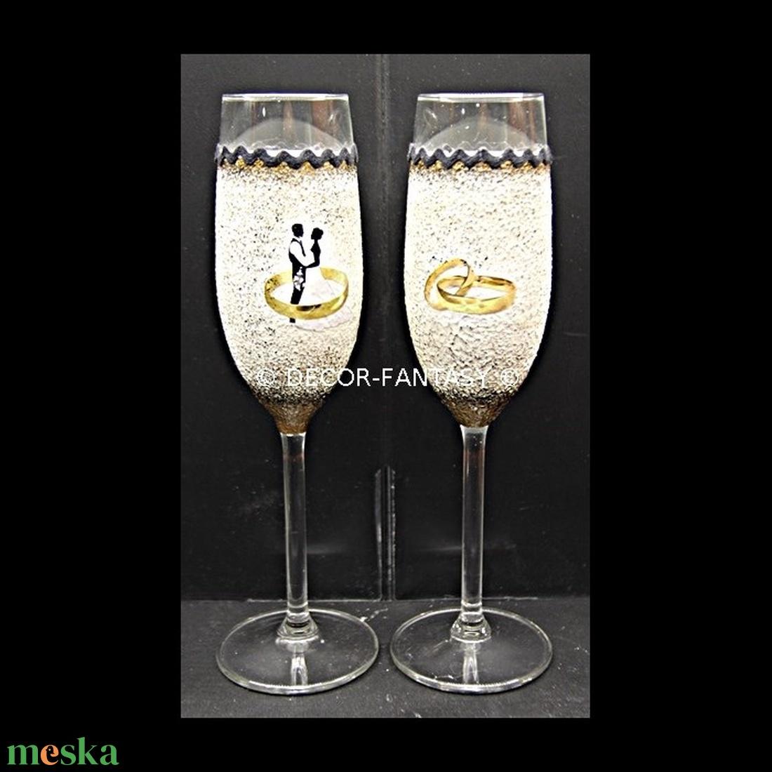 Egyedi NÉVRE szólóan és SAJÁT FOTÓVAL  is elkészíthető minőségi  pezsgős poharak ( legény -és leány búcsúra -esküvőre ) (decorfantasy) - Meska.hu