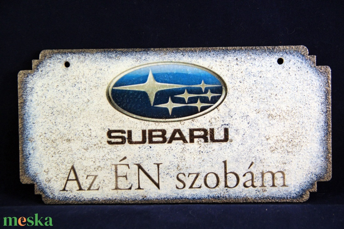 SUBARU emblémás  Én Szobám tábla ( 20 x 10 cm )  - Meska.hu