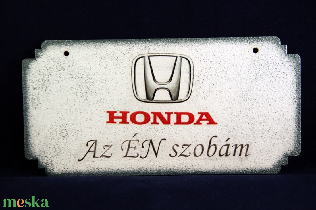 HONDA emblémás ÉN SZOBÁM ajtódísz I. Honda rajongóknak - Meska.hu
