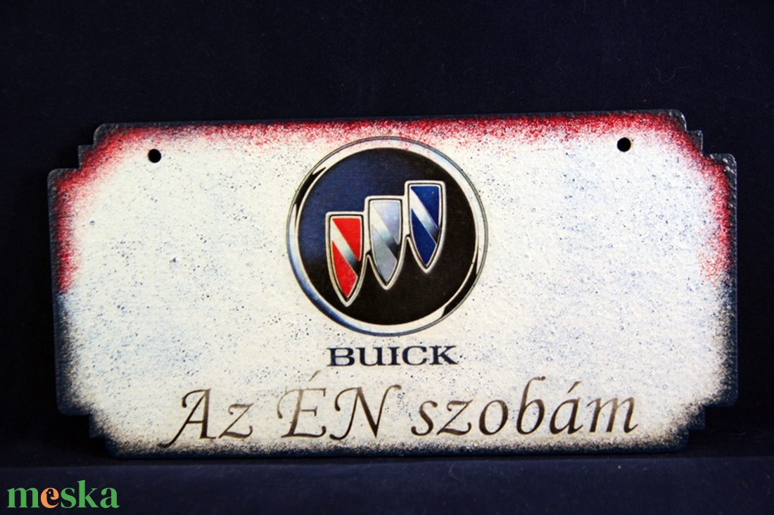 BUICK emblémás -  ÉN SZOBÁM tábla ( 20 x 10 cm ) (decorfantasy) - Meska.hu