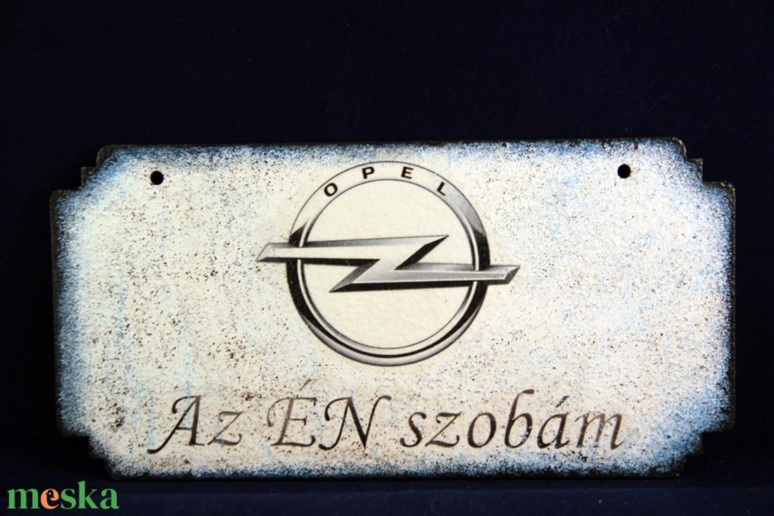 OPEL  emblémás -  ÉN SZOBÁM tábla ( 20 x 10 cm ) - Meska.hu
