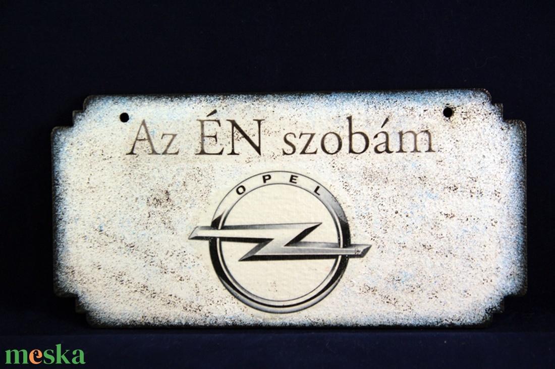 OPEL  emblémás -  ÉN SZOBÁM tábla ( 20 x 10 cm )#2 (decorfantasy) - Meska.hu