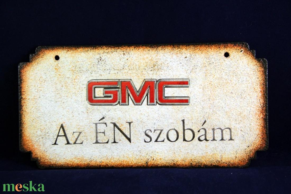 GMC  emblémás -  ÉN SZOBÁM tábla ( 20 x 10 cm ) - Meska.hu