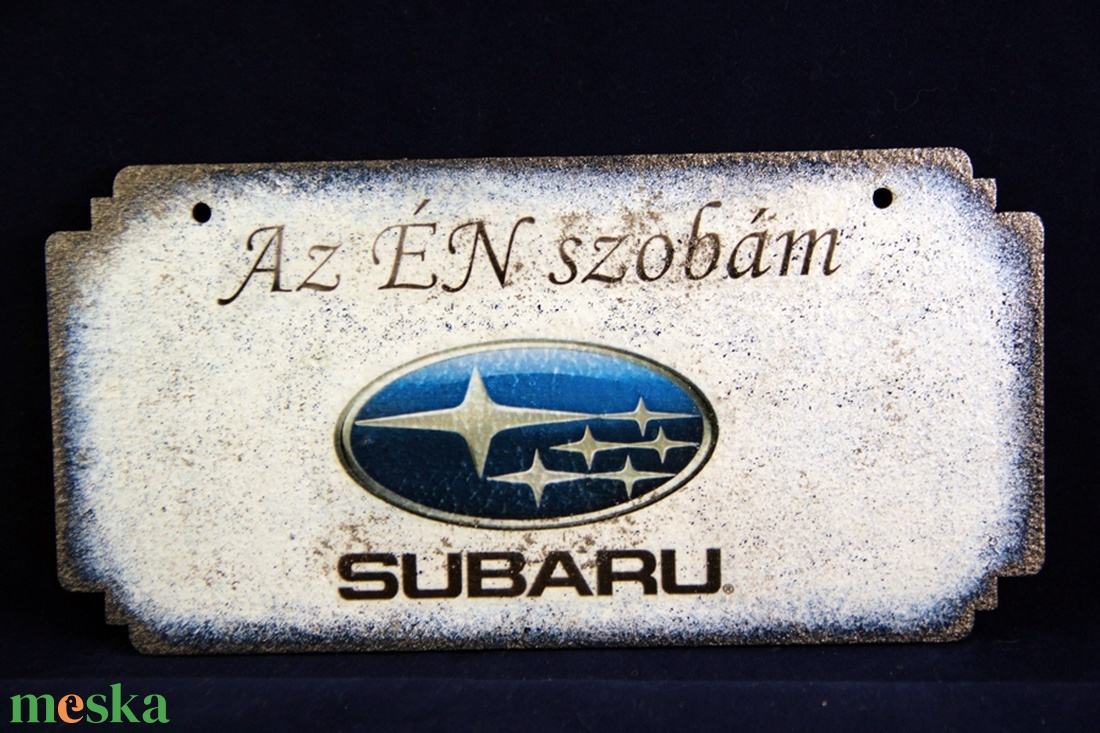 SUBARU emblémás -  ÉN SZOBÁM tábla ( 20 x 10 cm )#2 - Meska.hu