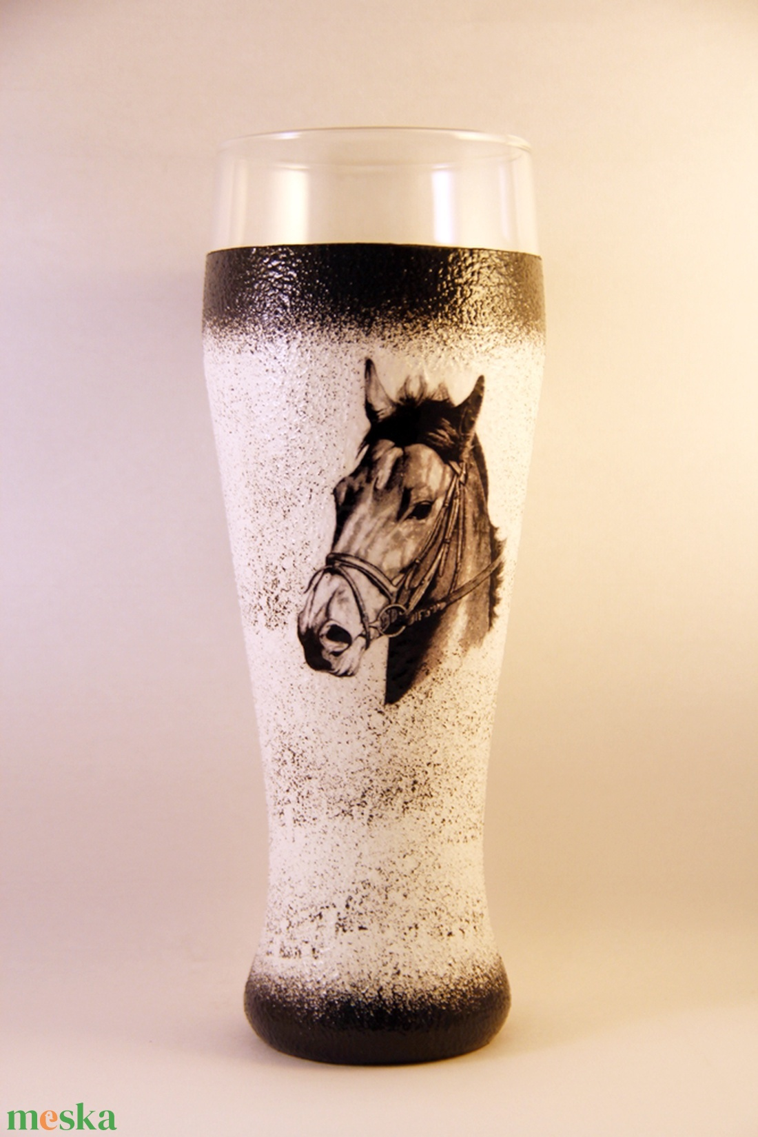 Ló motívummal díszített  sörös pohár / 6. - ( 0,5 L )   (decorfantasy) - Meska.hu