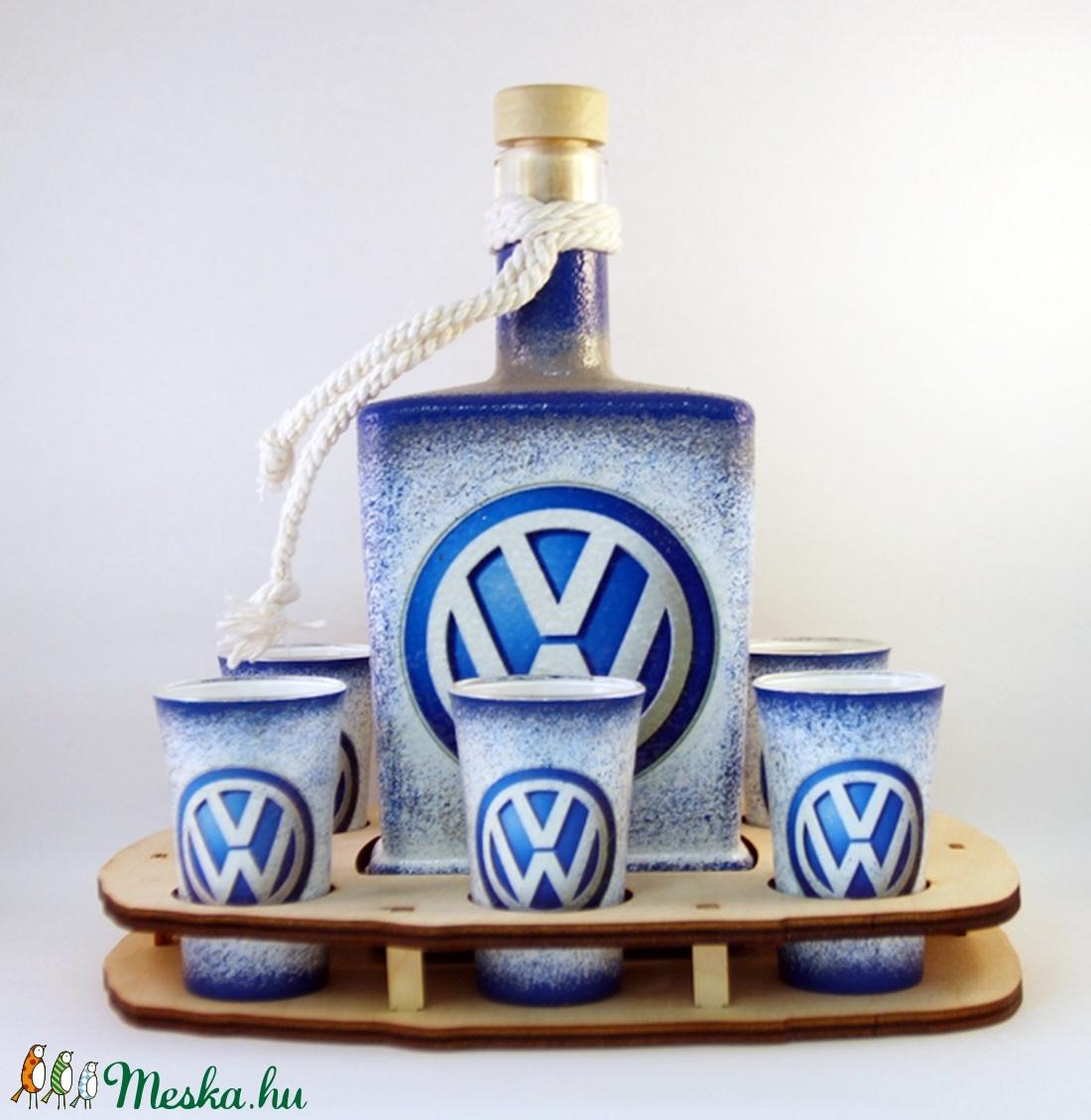 VOLKSWAGEN whiskys szett ; Saját Volkswagen autód fényképével is! - Meska.hu