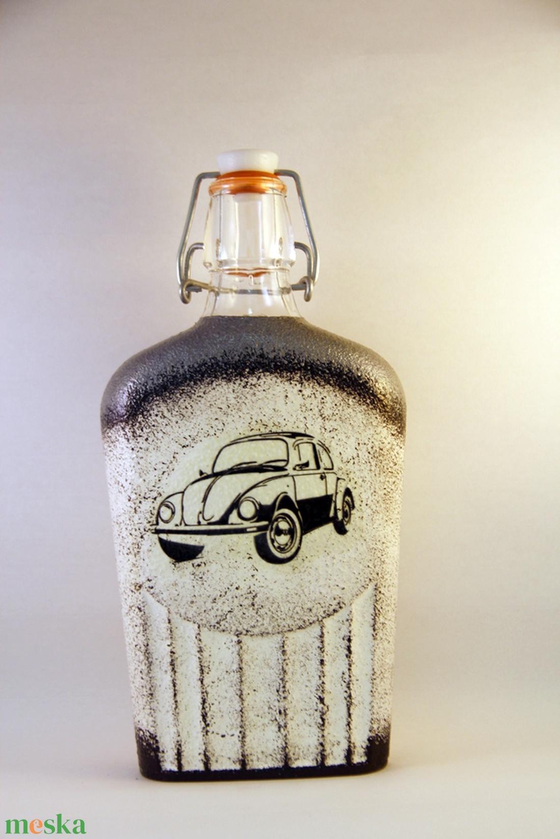 VOLKSWAGEN csatosüveg - VWBogár ; Saját Volkswagen autód fényképével is! (decorfantasy) - Meska.hu