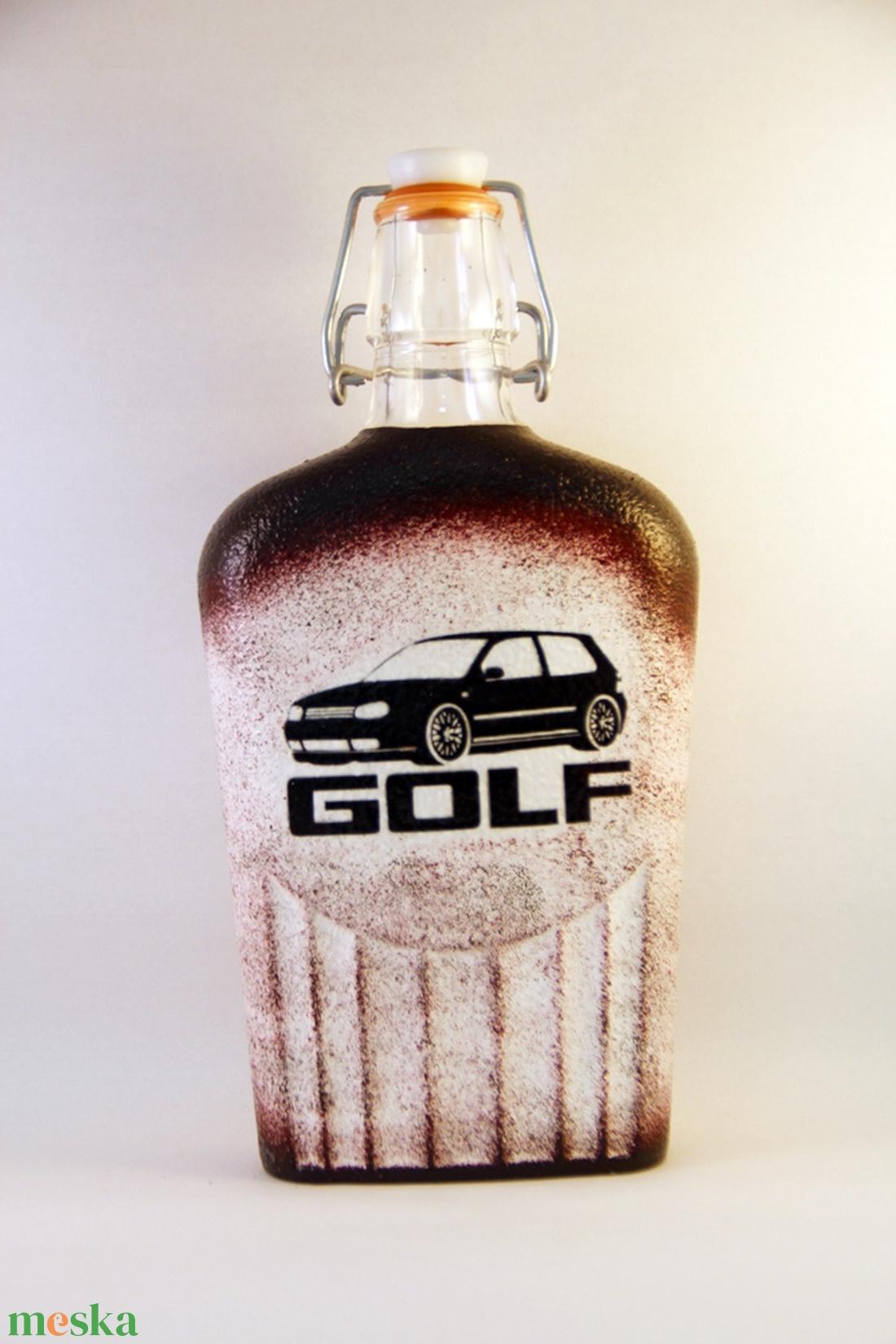 VOLKSWAGEN  csatosüveg -GOLF ;Volkswagen autód fényképével is! - Meska.hu