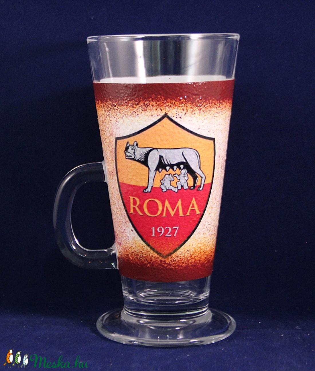 AS ROMA  emblémával díszített Latte-s pohár ( 260 ml )  (decorfantasy) - Meska.hu