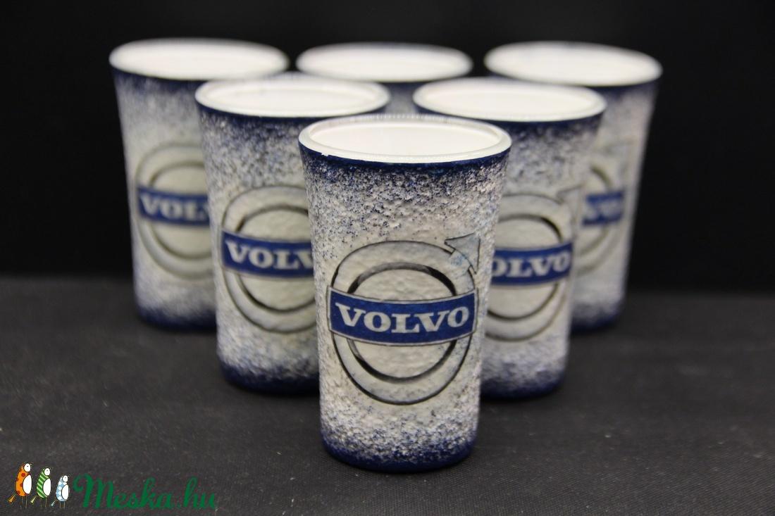 VOLVO emblémával díszített pohár szett ( 6 x 45 ml pohár )  (decorfantasy) - Meska.hu