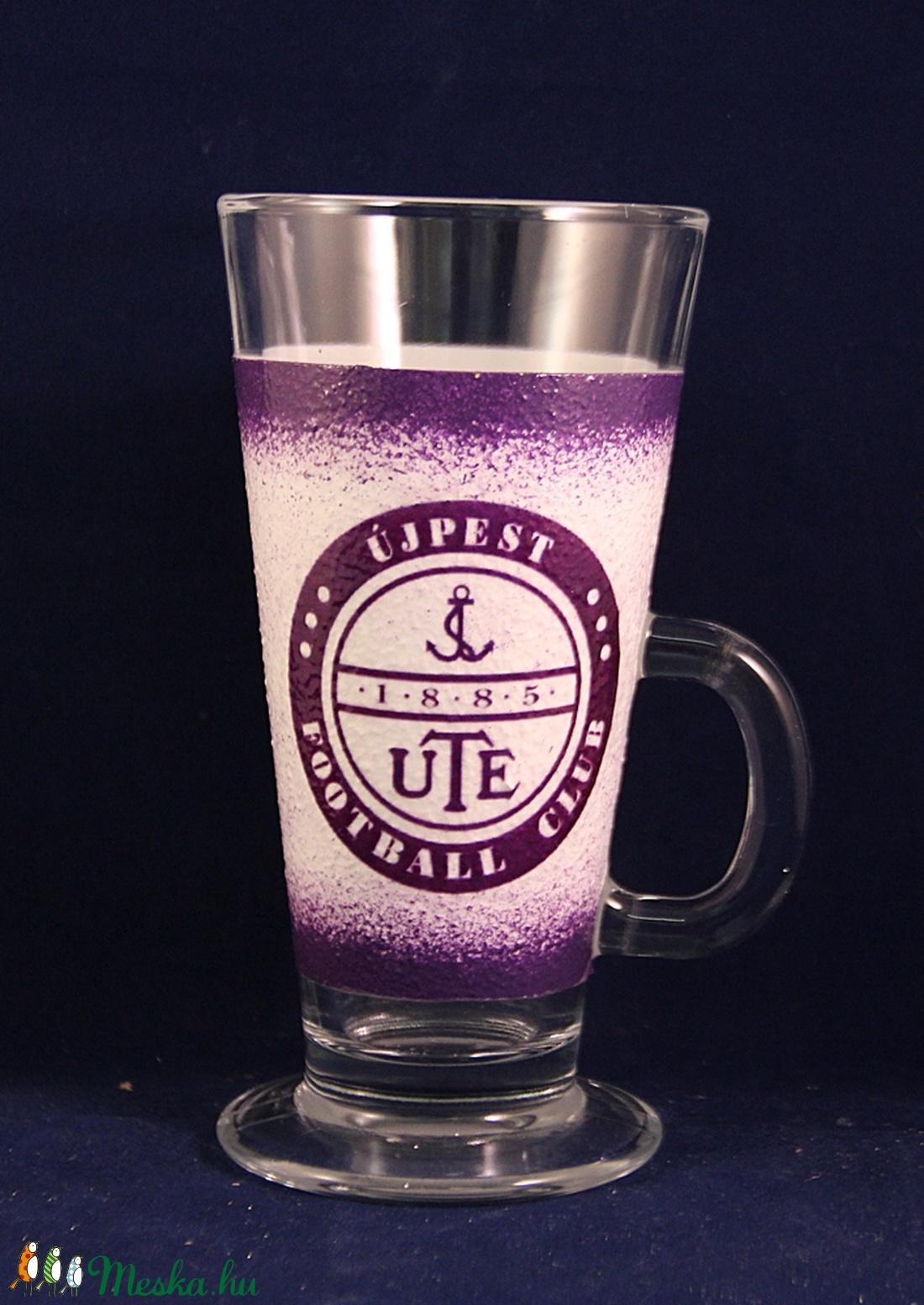 UTE emblémával díszített Latte-s, kávés pohár, UTE rajongóknak - Meska.hu