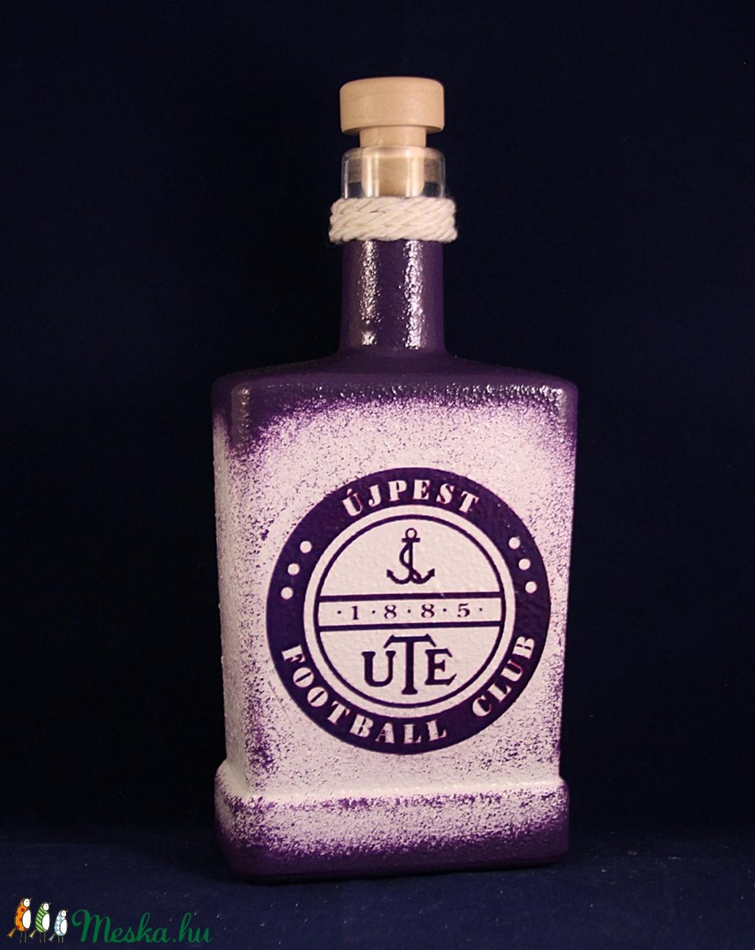 UTE emblémával díszített  pálinkás  üveg  ( 0,5 l üveg ) (decorfantasy) - Meska.hu